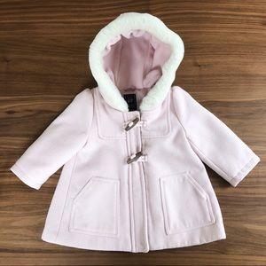 BABY GAP Hooded DUFFLE / PEA COAT In Light Pink